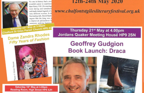 Collage of speakers at Chalfont St Giles literary festival
