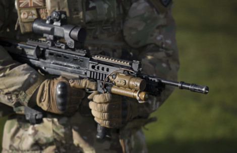 Royal Marine assault rifle